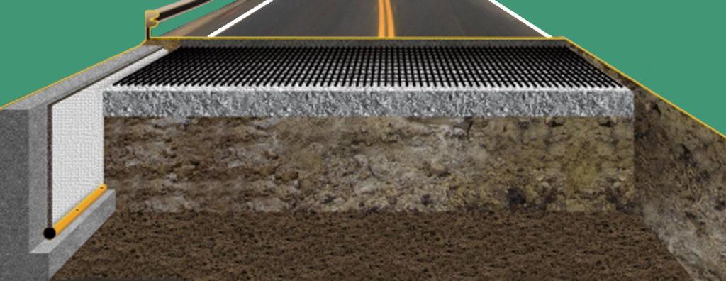 схема армирования дороги арматурной сеткой